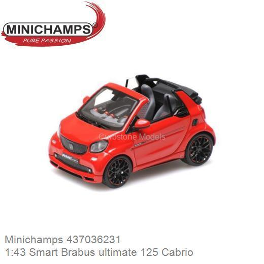 SPARK PKW 1:43 Smart Fortwo Cabrio 2013 red
