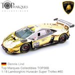 Modellauto 1:18 Lamborghini Huracán Super Trofeo #60 | Dennis Lind (Top Marques Collectibles TOP36B)
