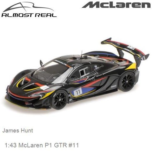 Modellauto 1:43 McLaren P1 GTR #11 | James Hunt (Almost Real ALM440108)