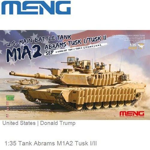 1:35 Tank Abrams M1A2 Tusk I/II | United States (MENG TS026)
