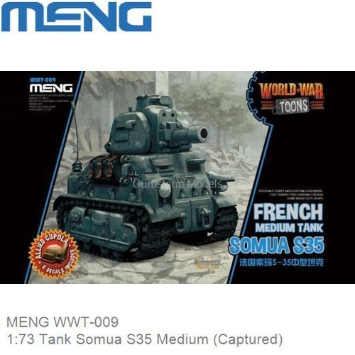 Bouwpakket 1:73 Tank Somua S35 Medium (Captured) (MENG WWT-009)