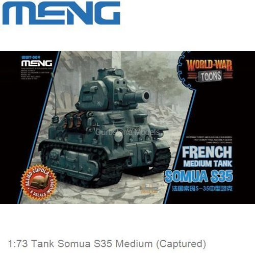 1:73 Tank Somua S35 Medium (Captured) (MENG WWT-009)