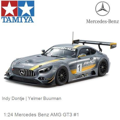 Modelauto 1:24 Mercedes Benz AMG GT3 #1 | Indy Dontje (Tamiya 24345)