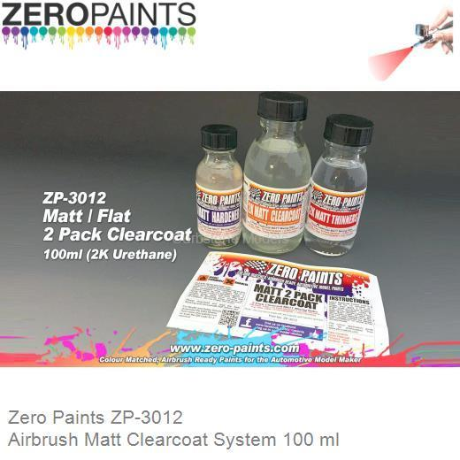 Airbrush Matt Clearcoat System 100 ml (Zero Paints ZP-3012)