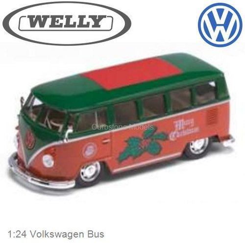 Modelauto 1:24 Volkswagen Bus (Welly 22095XMg)