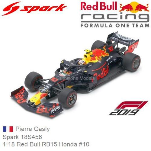Modellauto 1:18 Red Bull RB15 Honda #10 | Pierre Gasly (Spark 18S456)