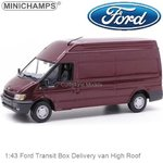 Modelcar 1:43 Ford Transit Box Delivery van High Roof (Minichamps 430089300)