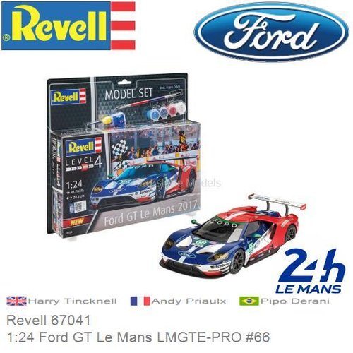Bausatz 1:24 Ford GT Le Mans LMGTE-PRO #66 | Pipo Derani (Revell 67041)