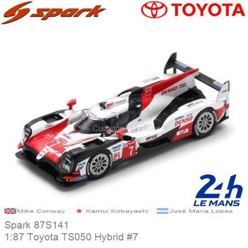 Modelauto 1:87 Toyota TS050 Hybrid #7 | Mike Conway (Spark 87S141)