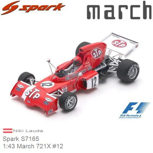 Modelcar 1:43 March 721X #12 | Niki Lauda (Spark S7165)