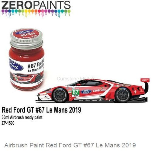 Airbrush Paint Red Ford GT #67 Le Mans 2019 (Zero Paints ZP-1590)