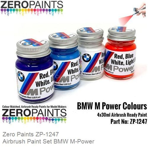 Airbrush Paint Set BMW M-Power (Zero Paints ZP-1247)
