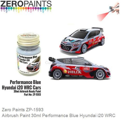 Airbrush Paint 30ml Performance Blue Hyundai i20 WRC (Zero Paints ZP-1593)