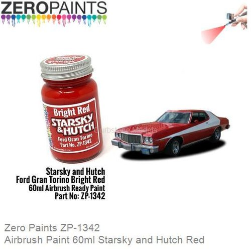 Airbrush Paint 60ml Starsky and Hutch Red (Zero Paints ZP-1342)