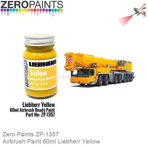 Airbrush Paint 60ml Liebherr Yellow (Zero Paints ZP-1357)