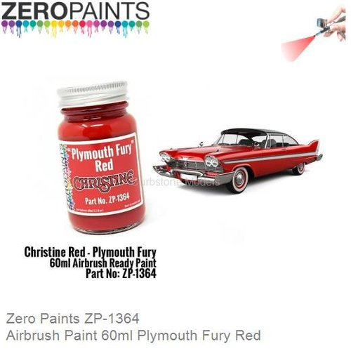 Airbrush Paint 60ml Plymouth Fury Red (Zero Paints ZP-1364)