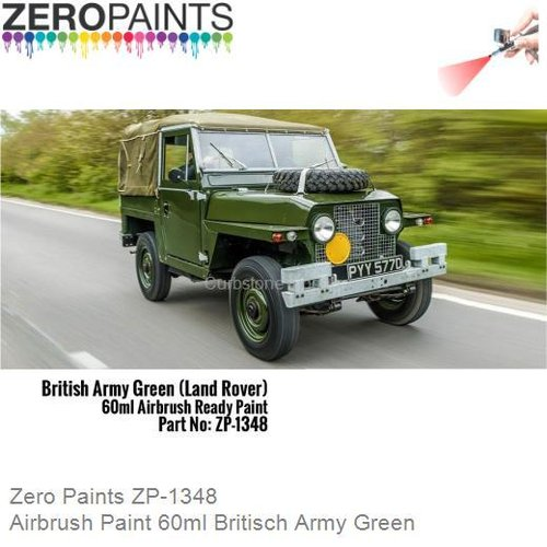 Airbrush Paint 60ml Britisch Army Green (Zero Paints ZP-1348)