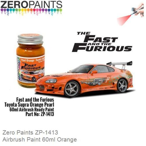 Airbrush Paint 60ml Orange (Zero Paints ZP-1413)