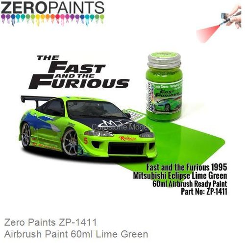 Airbrush Paint 60ml Lime Green (Zero Paints ZP-1411)