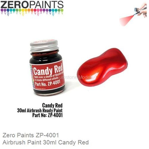 Airbrush Paint 30ml Candy Red (Zero Paints ZP-4001)