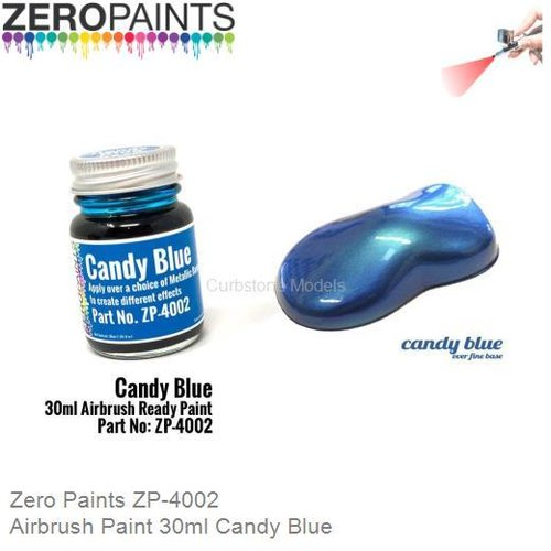 Airbrush Paint 30ml Candy Blue (Zero Paints ZP-4002)