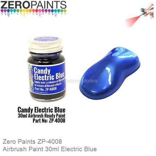 Airbrush Paint 30ml Electric Blue (Zero Paints ZP-4008)