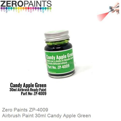 Airbrush Paint 30ml Candy Apple Green (Zero Paints ZP-4009)