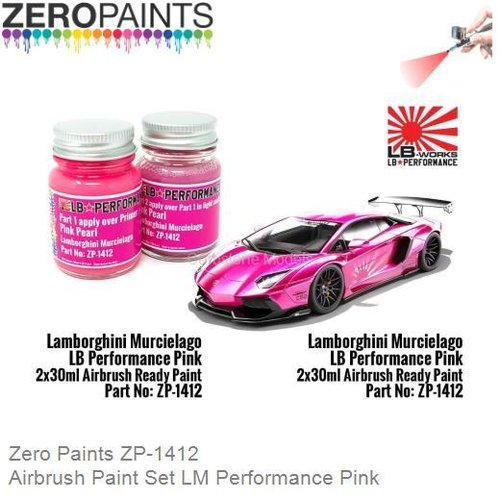 Airbrush Paint Set LM Performance Pink (Zero Paints ZP-1412)