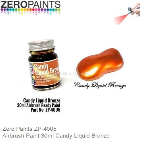 Airbrush Paint 30ml Candy Liquid Bronze (Zero Paints ZP-4005)