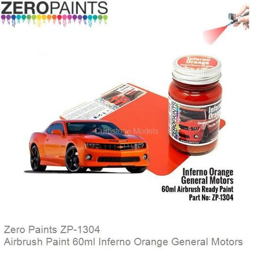 Airbrush Paint 60ml Inferno Orange General Motors (Zero Paints ZP-1304)