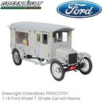 1:18 Ford Model T Ornate Carved Hearse (Greenlight Collectibles PMSC07GY)