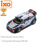 Modelcar 1:43 Hyundai i20 Coupe WRC #5 | Thierry Neuville (IXO-Models 8809430771380)