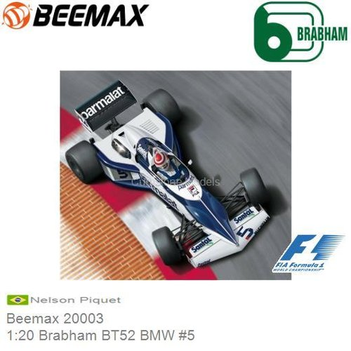 Kit 1:20 Brabham BT52 BMW #5 | Nelson Piquet (Beemax 20003)