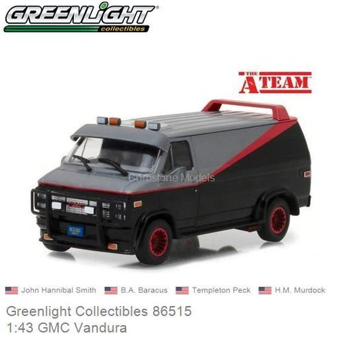 Modelauto 1:43 GMC Vandura | John Hannibal Smith (Greenlight Collectibles 86515)
