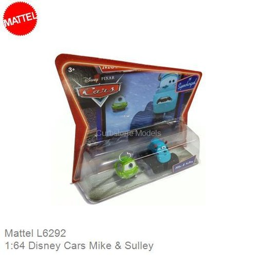 Modelauto 1:64 Disney Cars Mike & Sulley (Mattel L6292)