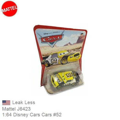 Modelauto 1:64 Disney Cars Cars #52 | Leak Less (Mattel J6423)