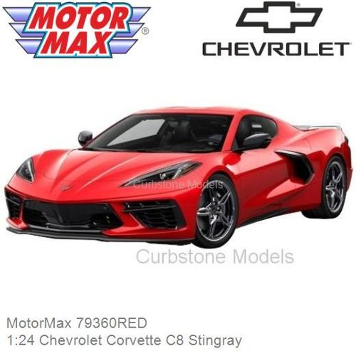 Modelcar 1:24 Chevrolet Corvette C8 Stingray (MotorMax 79360RED)