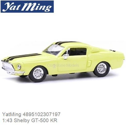 Modelauto 1:43 Shelby GT-500 KR (YatMing 4895102307197)