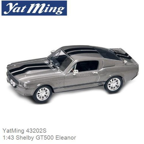 Modelauto 1:43 Shelby GT500 Eleanor (YatMing 43202S)