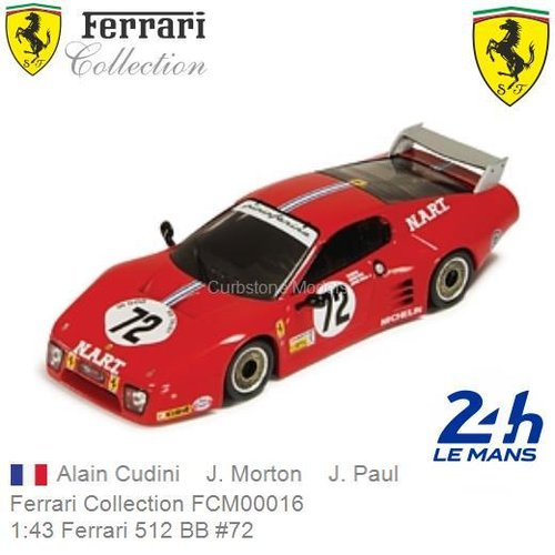 Modelauto 1:43 Ferrari 512 BB #72 | Alain Cudini (Ferrari Collection FCM00016)