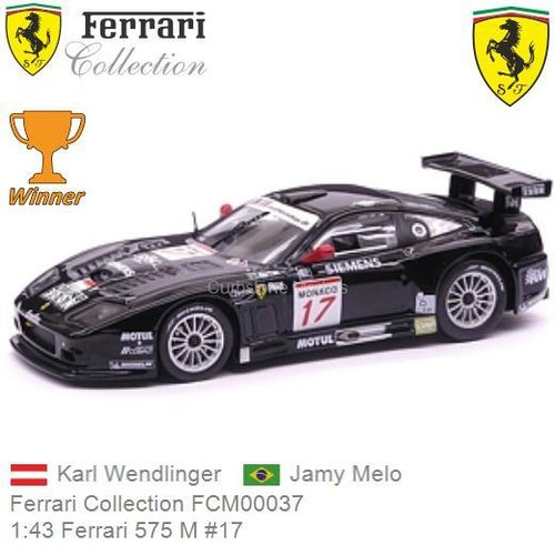 Modelauto 1:43 Ferrari 575 M #17 | Karl Wendlinger (Ferrari Collection FCM00037)