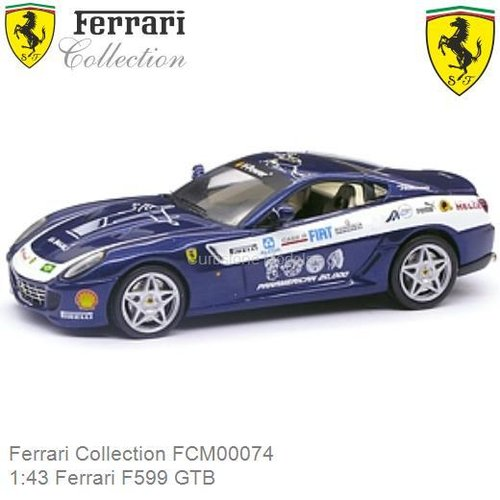 Modelauto 1:43 Ferrari F599 GTB (Ferrari Collection FCM00074)