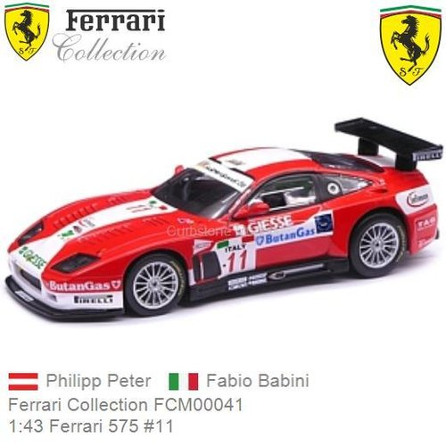 Modelauto 1:43 Ferrari 575 #11 | Philipp Peter (Ferrari Collection FCM00041)