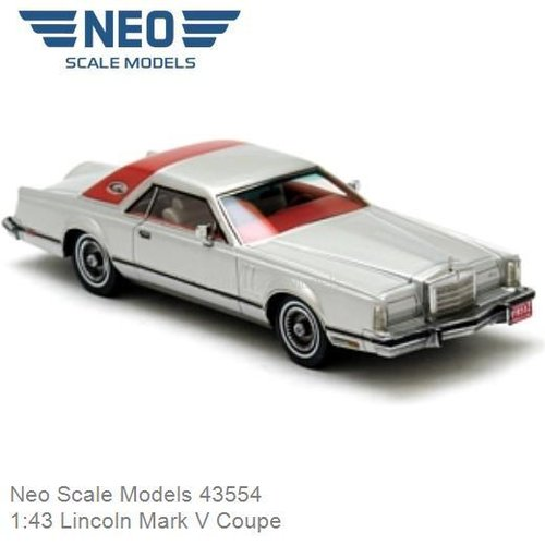 Modelauto 1:43 Lincoln Mark V Coupe (Neo Scale Models 43554)