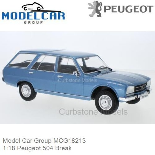 Modelauto 1:18 Peugeot 504 Break (Model Car Group MCG18213)