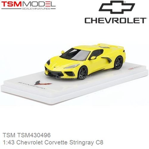 Modelauto 1:43 Chevrolet Corvette Stringray C8 (TSM TSM430496)