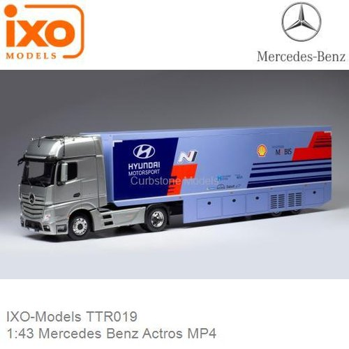 1:43 Mercedes Benz Actros MP4 (IXO-Models TTR019)