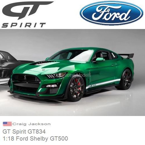 Modelauto 1:18 Ford Shelby GT500 | Craig Jackson (GT Spirit GT834)