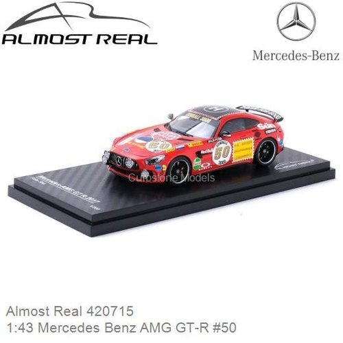 Modelauto 1:43 Mercedes Benz AMG GT-R #50 (Almost Real 420715)