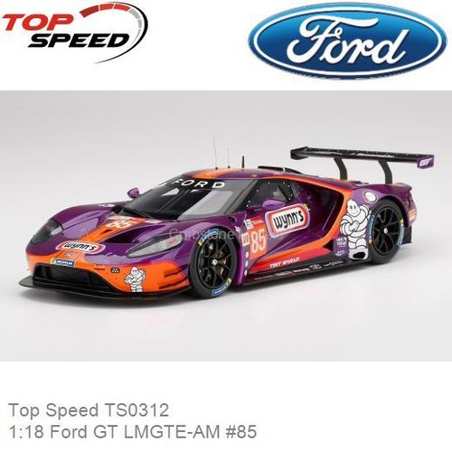 Modelauto 1:18 Ford GT LMGTE-AM #85 | Jeroen Bleekemolen (Top Speed TS0312)